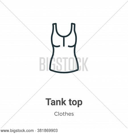 Tank top icon isolated on white background from clothes collection. Tank top icon trendy and modern