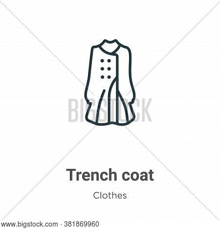 Trench coat icon isolated on white background from clothes collection. Trench coat icon trendy and m