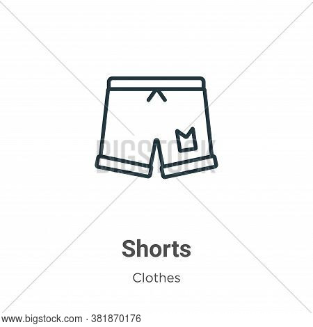 Shorts icon isolated on white background from clothes collection. Shorts icon trendy and modern Shor