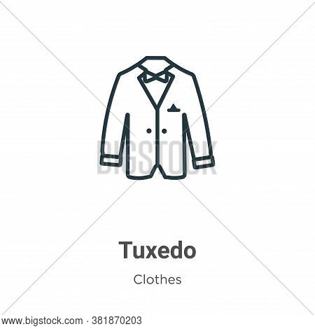 Tuxedo icon isolated on white background from clothes collection. Tuxedo icon trendy and modern Tuxe