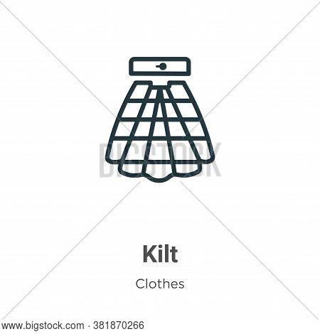 Kilt Icon From Collection Isolated On White Background.