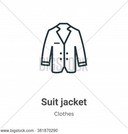 Suit jacket icon isolated on white background from  collection. Suit jacket icon trendy and modern S