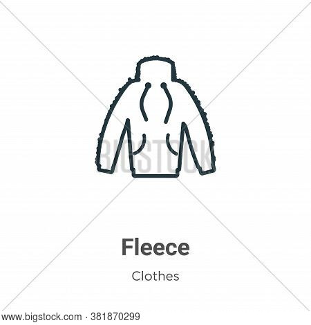 Fleece icon isolated on white background from  collection. Fleece icon trendy and modern Fleece symb