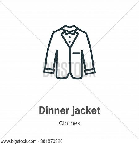 Dinner jacket icon isolated on white background from  collection. Dinner jacket icon trendy and mode