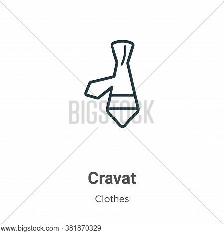 Cravat icon isolated on white background from  collection. Cravat icon trendy and modern Cravat symb