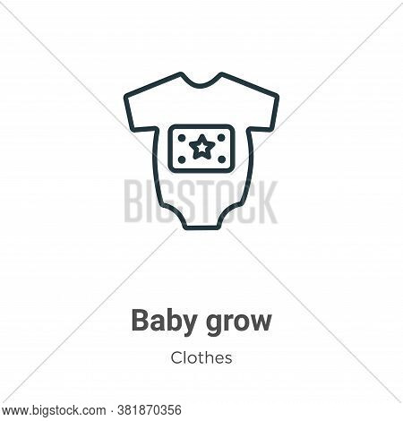 Baby grow icon isolated on white background from  collection. Baby grow icon trendy and modern Baby