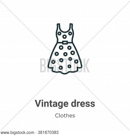 Vintage dress icon isolated on white background from  collection. Vintage dress icon trendy and mode