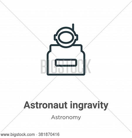 Astronaut ingravity icon isolated on white background from astronomy collection. Astronaut ingravity