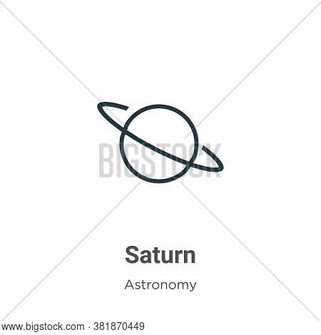Saturn icon isolated on white background from astronomy collection. Saturn icon trendy and modern Sa