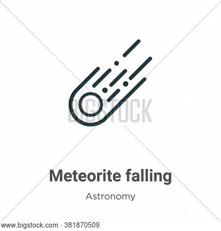 Meteorite falling icon isolated on white background from astronomy collection. Meteorite falling ico