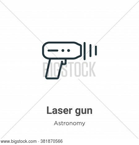 Laser gun icon isolated on white background from astronomy collection. Laser gun icon trendy and mod