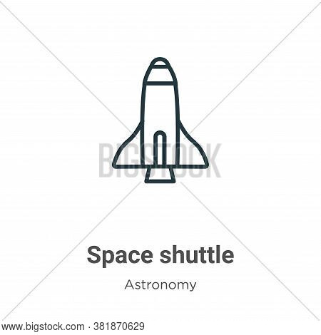 Space shuttle icon isolated on white background from astronomy collection. Space shuttle icon trendy
