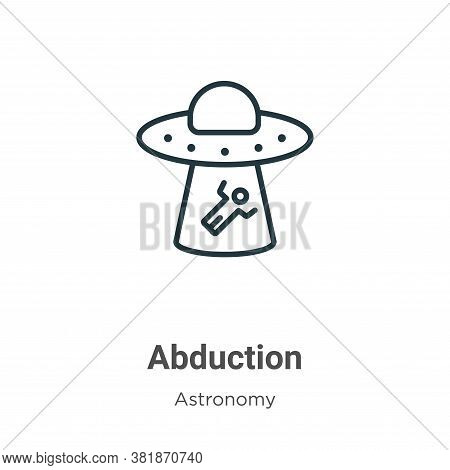 Abduction icon isolated on white background from astronomy collection. Abduction icon trendy and mod