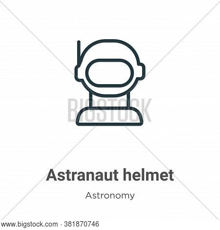 Astranaut helmet icon isolated on white background from astronomy collection. Astranaut helmet icon