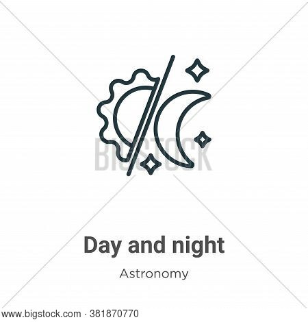 Day and night icon isolated on white background from astronomy collection. Day and night icon trendy