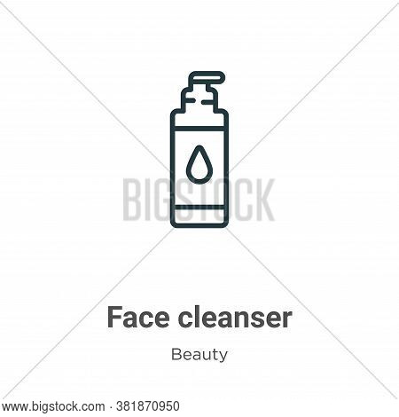 Face cleanser icon isolated on white background from beauty collection. Face cleanser icon trendy an