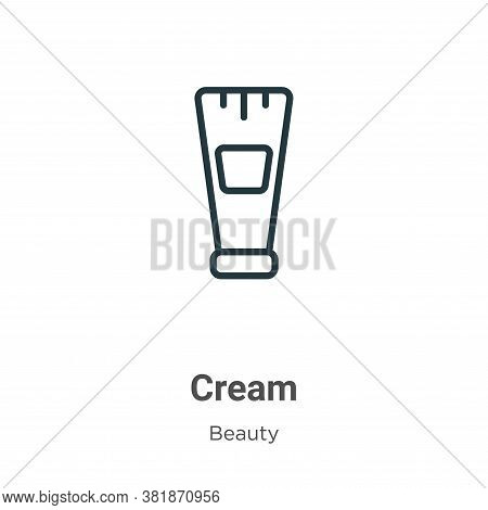 Cream icon isolated on white background from beauty collection. Cream icon trendy and modern Cream s