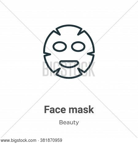 Face mask icon isolated on white background from beauty collection. Face mask icon trendy and modern