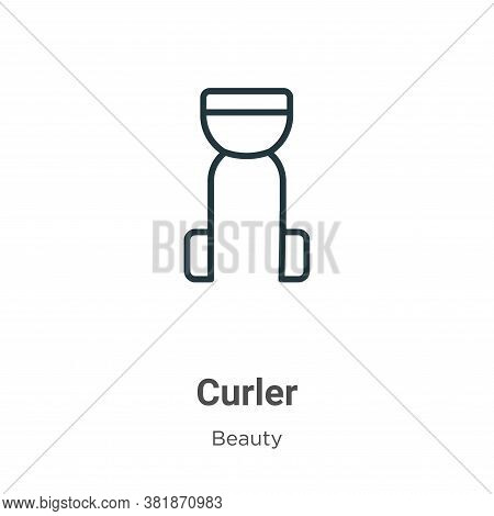 Curler icon isolated on white background from beauty collection. Curler icon trendy and modern Curle