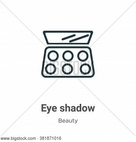 Eye shadow icon isolated on white background from beauty collection. Eye shadow icon trendy and mode