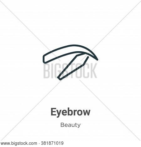 Eyebrow icon isolated on white background from beauty collection. Eyebrow icon trendy and modern Eye