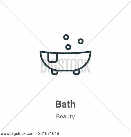 Bath icon isolated on white background from beauty collection. Bath icon trendy and modern Bath symb