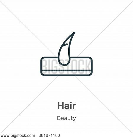 Hair icon isolated on white background from beauty collection. Hair icon trendy and modern Hair symb