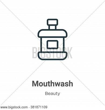 Mouthwash icon isolated on white background from beauty collection. Mouthwash icon trendy and modern