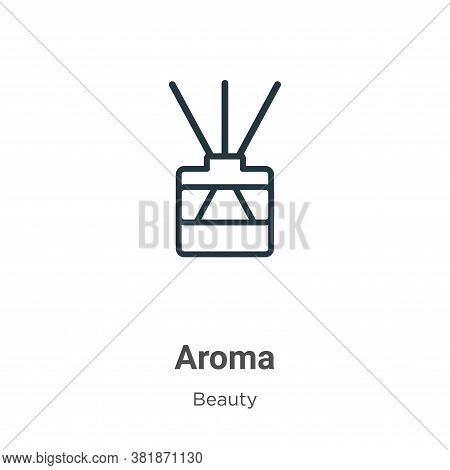 Aroma icon isolated on white background from beauty collection. Aroma icon trendy and modern Aroma s