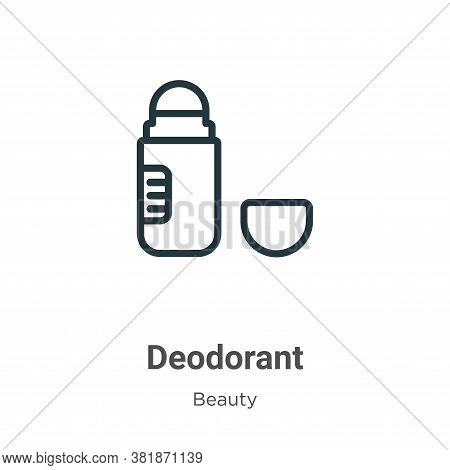 Deodorant icon isolated on white background from beauty collection. Deodorant icon trendy and modern