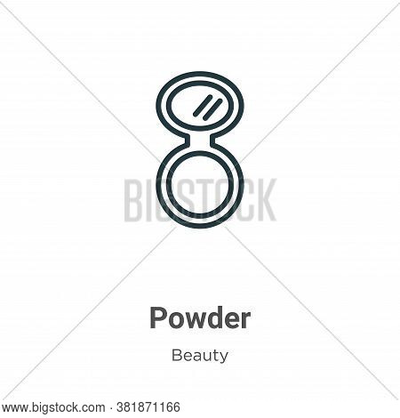 Powder icon isolated on white background from beauty collection. Powder icon trendy and modern Powde