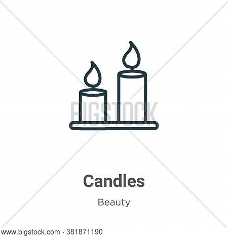 Candles icon isolated on white background from beauty collection. Candles icon trendy and modern Can