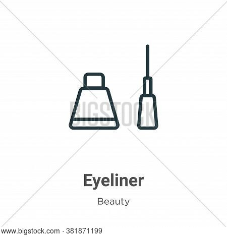 Eyeliner icon isolated on white background from beauty collection. Eyeliner icon trendy and modern E