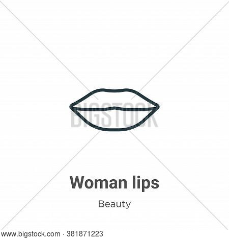 Woman lips icon isolated on white background from beauty collection. Woman lips icon trendy and mode