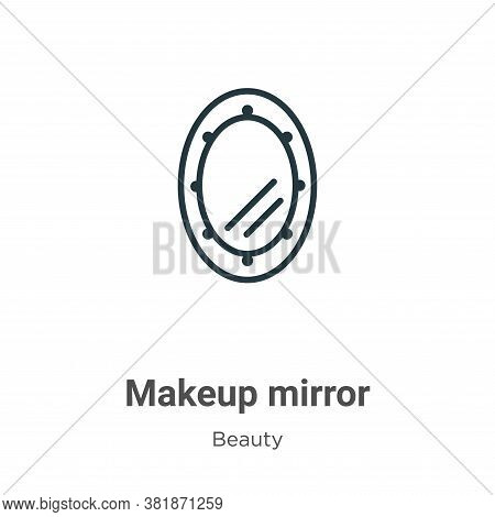 Makeup mirror icon isolated on white background from beauty collection. Makeup mirror icon trendy an