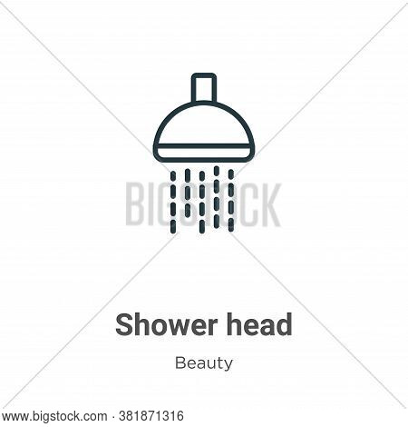 Shower head icon isolated on white background from beauty collection. Shower head icon trendy and mo