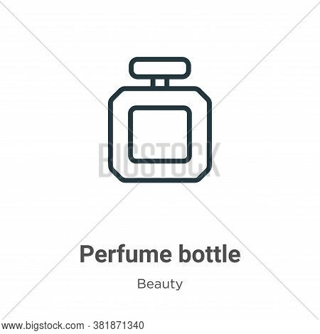 Perfume bottle icon isolated on white background from beauty collection. Perfume bottle icon trendy