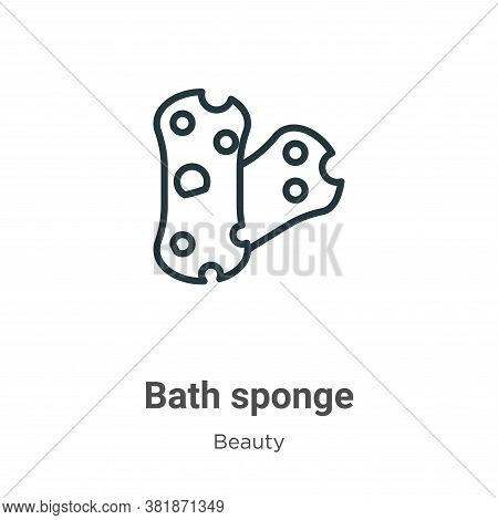 Bath sponge icon isolated on white background from beauty collection. Bath sponge icon trendy and mo
