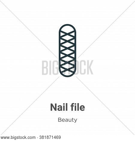 Nail file icon isolated on white background from beauty collection. Nail file icon trendy and modern
