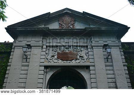 Manila, Ph - Oct. 5 - Puerta Del Parian Entrance Arch At Intramuros Walled City On October 5, 2019 I