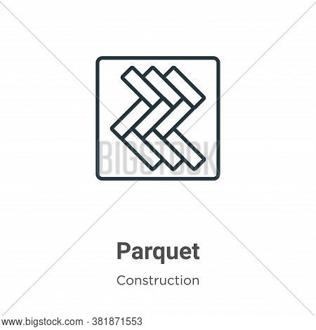Parquet icon isolated on white background from construction collection. Parquet icon trendy and mode