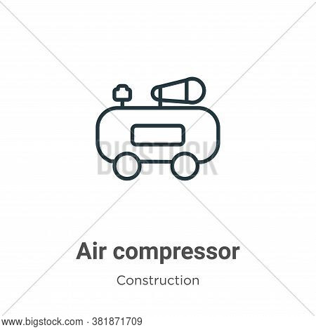 Air compressor icon isolated on white background from construction collection. Air compressor icon t