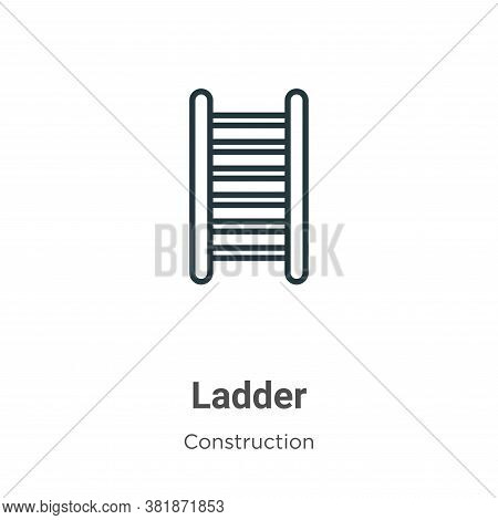 Ladder icon isolated on white background from construction collection. Ladder icon trendy and modern