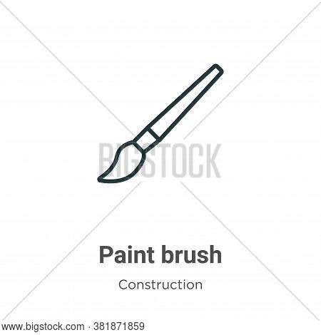 Paint brush icon isolated on white background from construction collection. Paint brush icon trendy