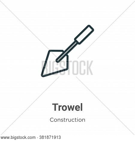 Trowel icon isolated on white background from construction collection. Trowel icon trendy and modern