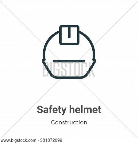 Safety helmet icon isolated on white background from construction collection. Safety helmet icon tre