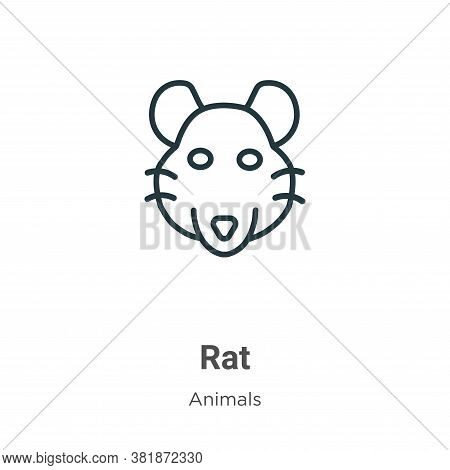 Rat icon isolated on white background from animals collection. Rat icon trendy and modern Rat symbol
