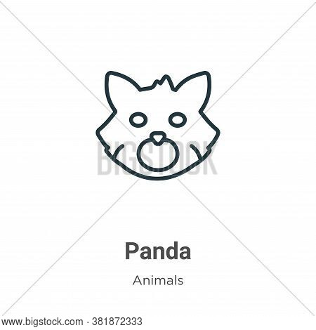 Red panda icon isolated on white background from animals collection. Red panda icon trendy and moder