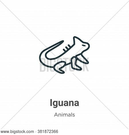 Iguana Icon From Animals Collection Isolated On White Background.