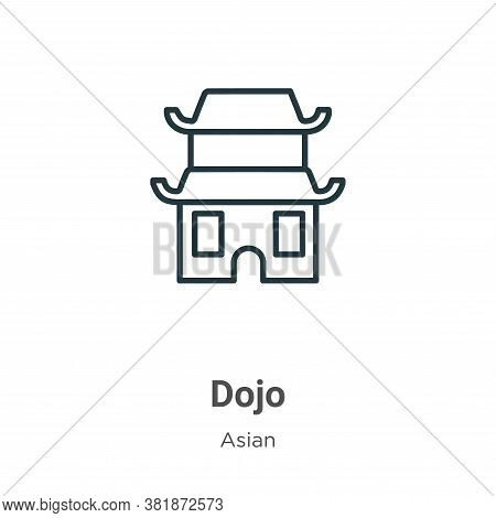 Dojo icon isolated on white background from asian collection. Dojo icon trendy and modern Dojo symbo